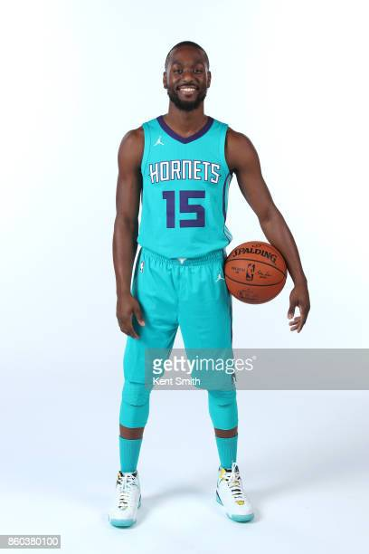 Kemba Walker of the Charlotte Hornets poses for a portrait during media day on September 25 2017 at Spectrum Center in Charlotte North Carolina NOTE...