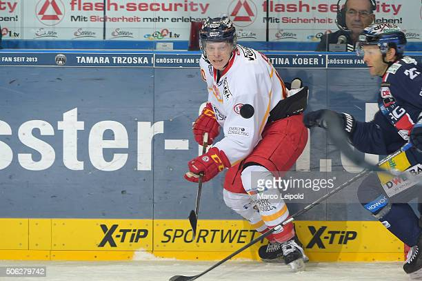Ken Andre Olimb of the Duesseldorfer EG during the DEL game between the Eisbaeren Berlin and Duesseldorfer EG on January 22 2016 in Berlin Germany