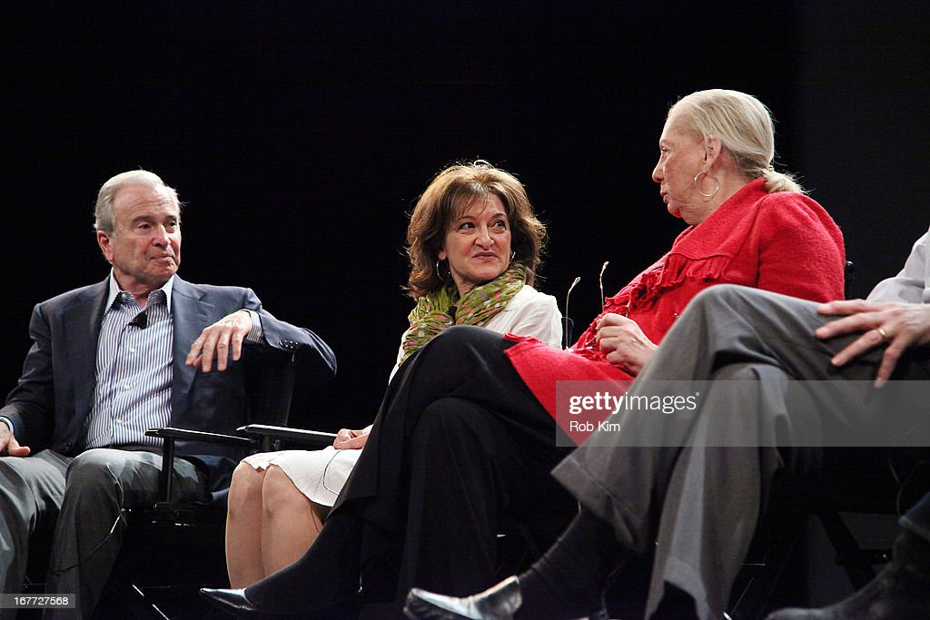 Ken Auletta, Vivienne Roumani, Jane Friedman attend Tribeca Talks After The Movie: 'Out Of Print' during the 2013 Tribeca Film Festival on April 28, 2013 in New York City.