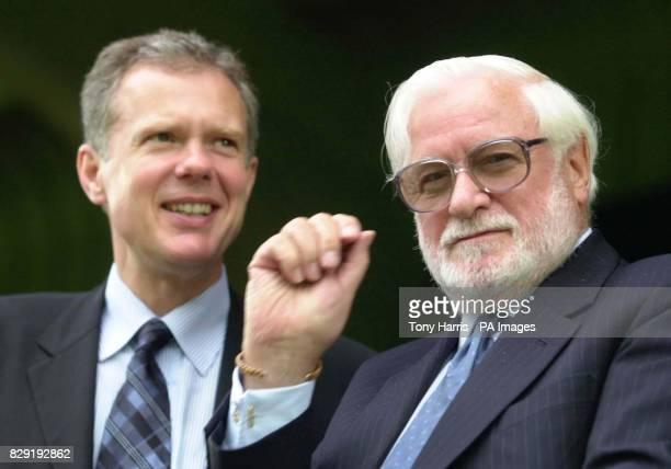 Ken Bates Chelsea Chairman with his new Chief Excecutive Trevor Burch during a preseason freindly match between Wycombe Wandererers and Chelsea at...