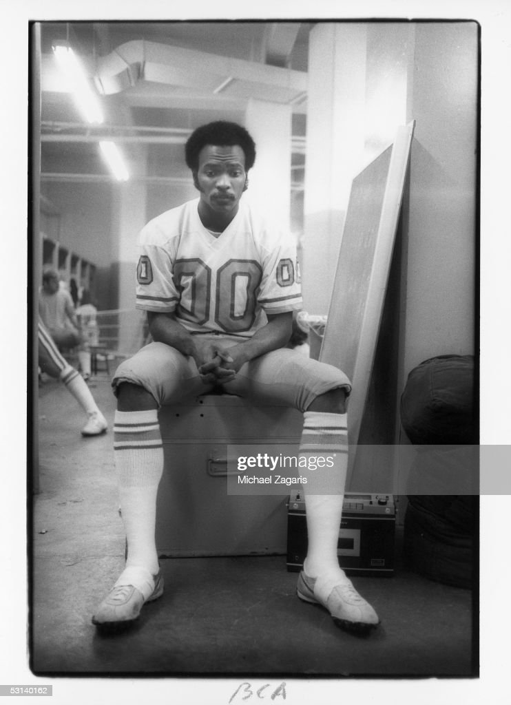 Ken Burrough of the Houston Oilers relaxes before the game against the San Francisco 49ers at Candlestick Park on December 7 1975 in San Francisco...