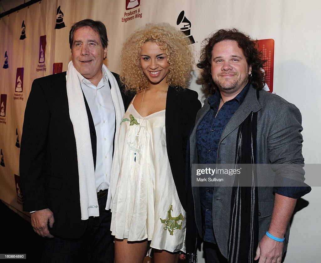 Ken Caillat, Holly Quin-Ankrah and Michael Hodges attend The 55th Annual GRAMMY Awards - P&E Wing Event Honoring Quincy Jones And Al Schmitt held at The Village on February 6, 2013 in West Los Angeles, California.