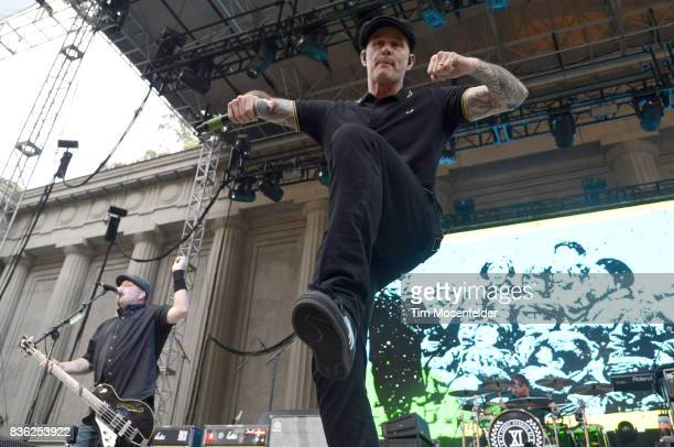 Ken Casey and Al Barr of Dropkick Murphys perform during the 'From Boston to Berkeley' tour at University of California Berkeley on August 20 2017 in...