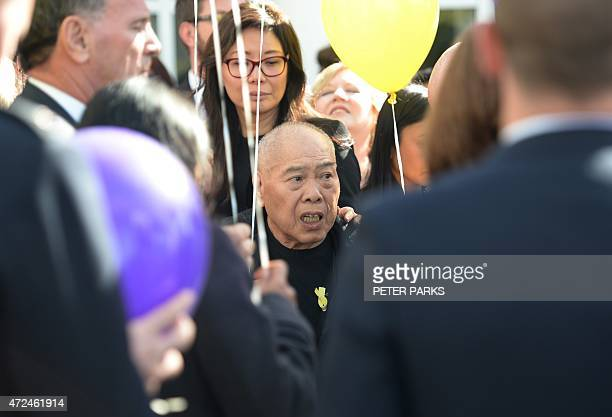 Ken Chan father of executed Australian drug smuggler Andrew Chan attends his son's funeral ceremony in Sydney on May 8 2015 More than 1000 people...