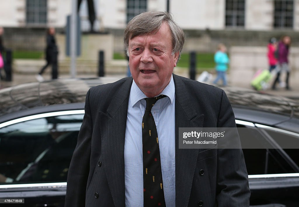 Ken Clarke arrives at the Cabinet Office to attend a National Security Council meeting on March 3, 2014 in London, England. Prime Minister David Cameron has held the meeting to discuss the situation in Ukraine.