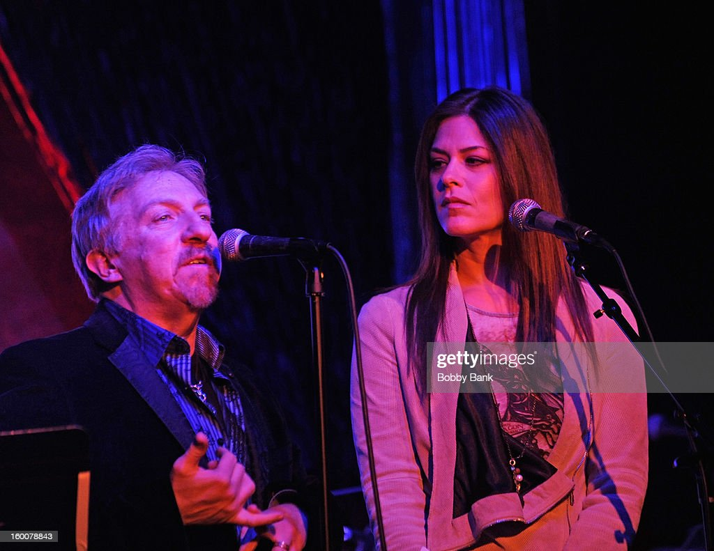 DJ Ken Dashow and Lynn Hoffman hosts Rockers in Recovery at The Cutting Room on January 25, 2013 in New York, New York.