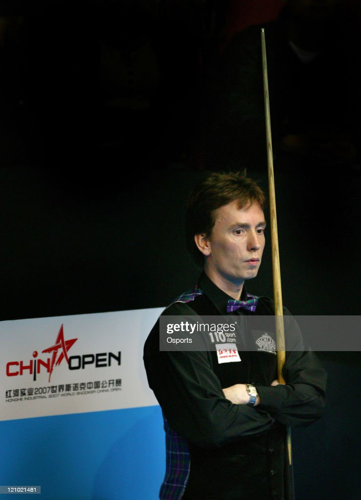 Ken Dohert of Ireland plays the match against <a gi-track='captionPersonalityLinkClicked' href=/galleries/search?phrase=Mark+Selby&family=editorial&specificpeople=676444 ng-click='$event.stopPropagation()'>Mark Selby</a> of England at the 2007 World Snooker China open 1/4 final at the Beijing University Students' Gymnasium. On March 28, 2007. <a gi-track='captionPersonalityLinkClicked' href=/galleries/search?phrase=Ken+Doherty&family=editorial&specificpeople=227969 ng-click='$event.stopPropagation()'>Ken Doherty</a> won with 5:1.