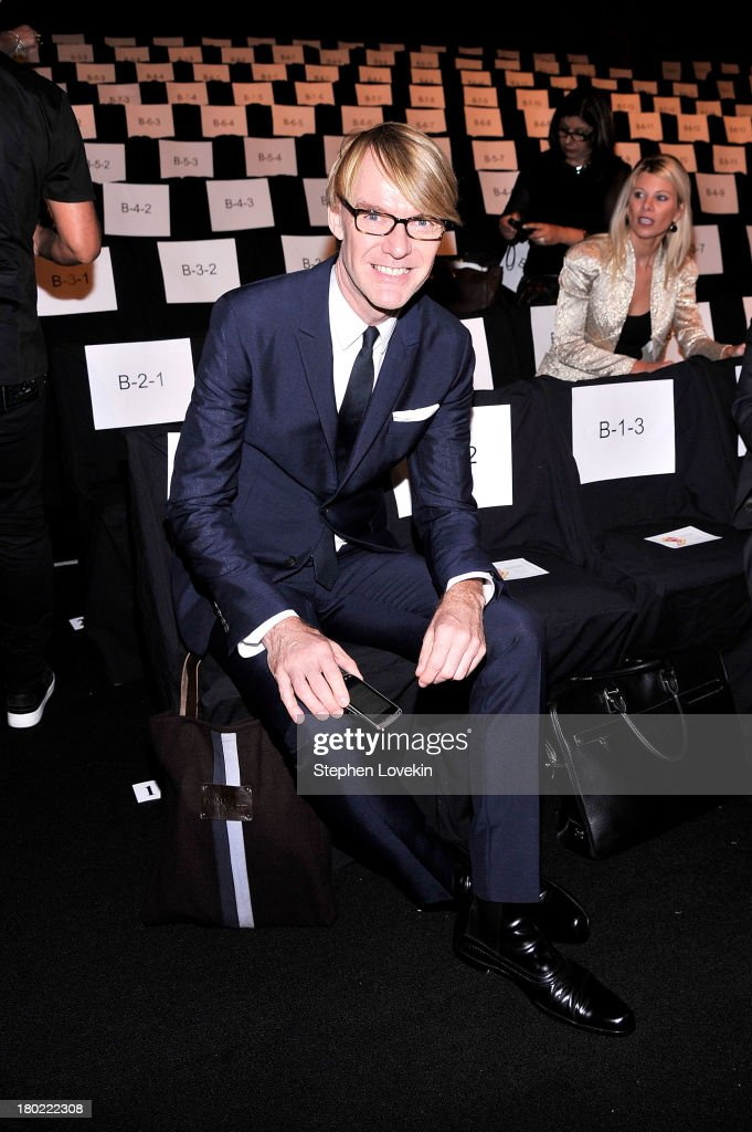 Ken Downing attends the Badgley Mischka fashion show during Mercedes-Benz Fashion Week Spring at The Theatre at Lincoln Center on September 10, 2013 in New York City.