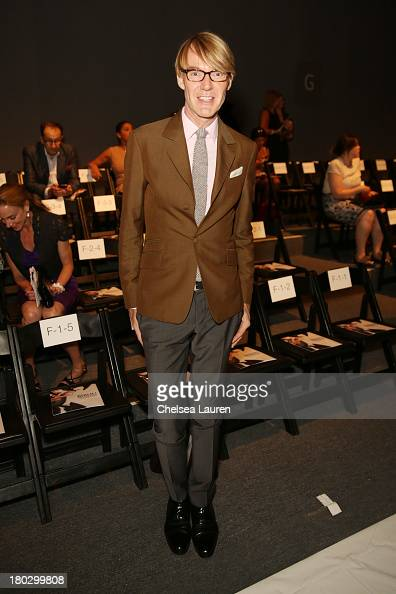 Ken Downing attends the Bibhu Mohapatra fashion show during MercedesBenz Fashion Week Spring 2014 at The Studio at Lincoln Center on September 11...