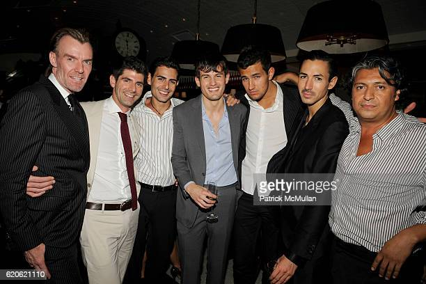 Ken Downing Daniel Cappello Guillermo Chevez Michel Heredia Max Lecki Christian Cota and Jim Villa attend YAZ and VALENTINE HERNANDEZ Private Dinner...