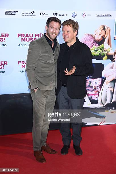 Ken Duken and Justus von Dohnanyi attend the premiere of the film 'Frau Mueller muss weg' at Cinedom on January 12 2015 in Cologne Germany