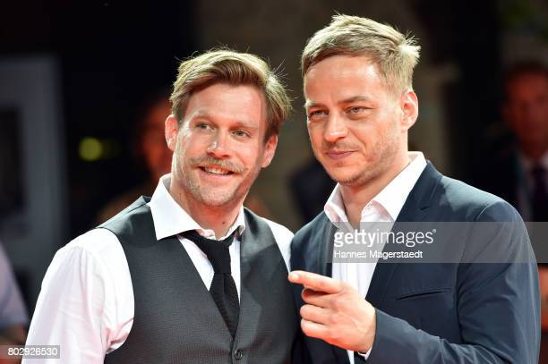 Ken Duken and Tom Wlaschiha attend the 'Berlin Falling' Premiere during Munich Film Festival 2017 at Gasteig on June 28 2017 in Munich Germany