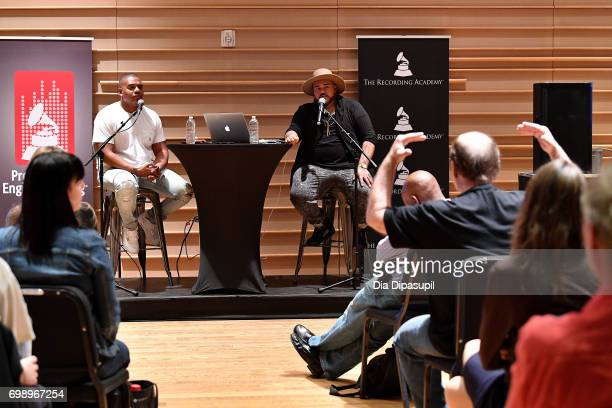 Ken 'Duro' Ifill and Erik 'Rook' Ortiz attend the GRAMMY Pro Art of the Craft The Listening Sessions at The DiMenna Center on June 20 2017 in New...