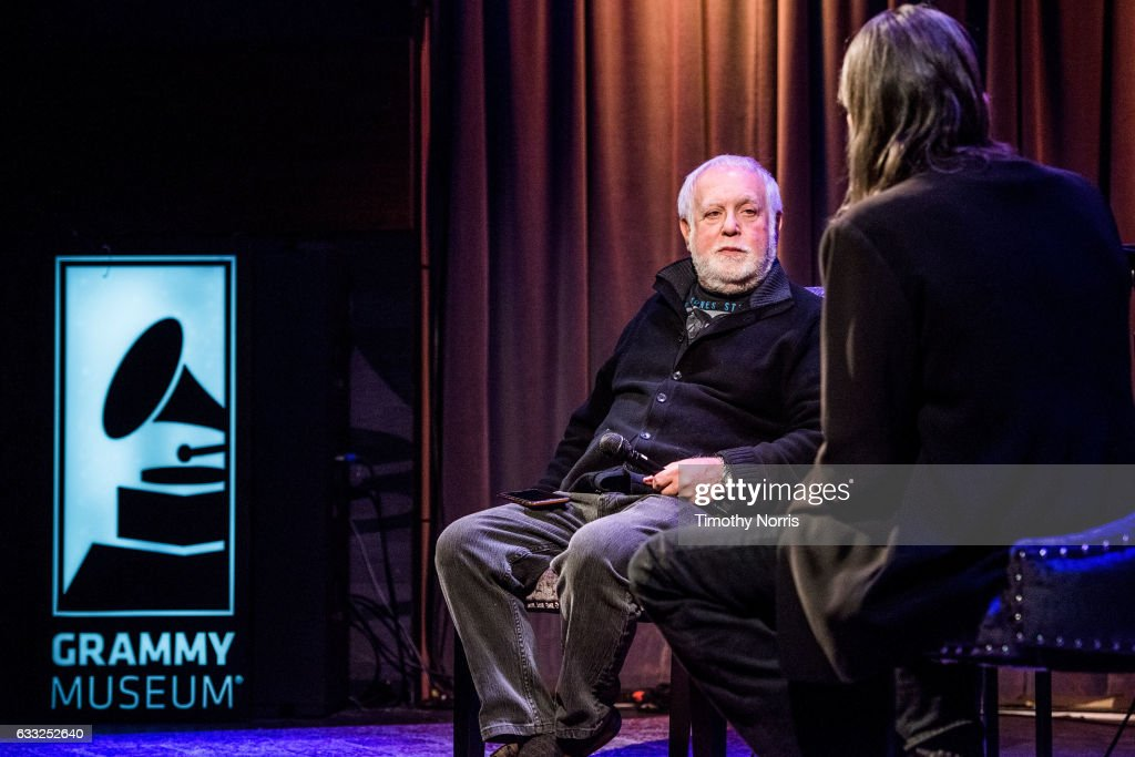Ken Ehrlich and Scott Goldman speak during Icons of the Music Industy: Ken Ehrlich at The GRAMMY Museum on January 31, 2017 in Los Angeles, California.