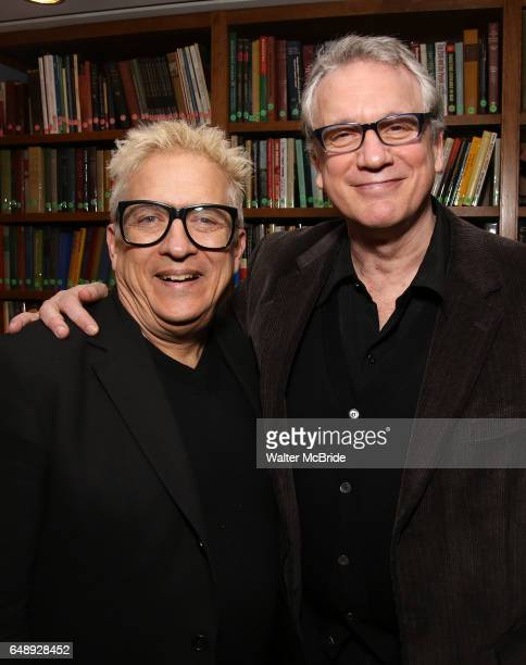 Ken Fallin and Rick Elice attend the Dramatists Guild Fund Salon With Rick Elice at the Cornell Club on March 6 2017 in New York City