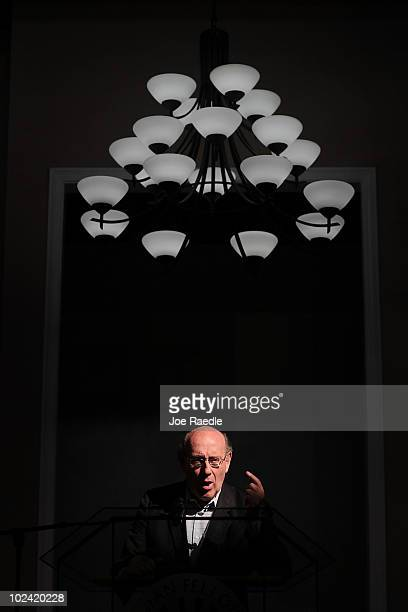 Ken Feinberg Administrator of the Independent Claims Facility for BP's $20 billion escrow fund speaks during a public meeting on June 25 2010 in...
