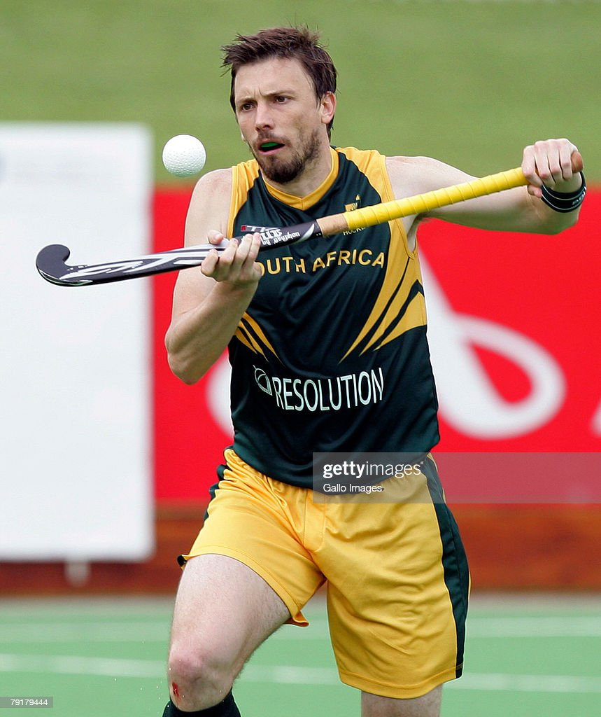 Ken Forbes of South Africa during the Five Nations Mens Hockey tournament match between South Africa and Germany held at the North West University hockey centre on January 23, 2008 in Potchefstroom, South Africa.