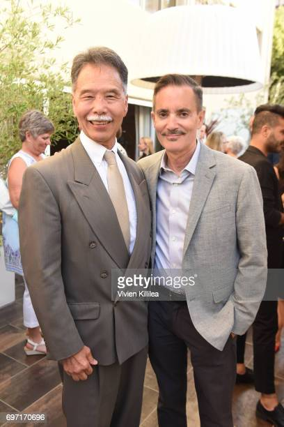 Ken Fujimoto and Research Network Executive Director William Repicci attend Academy Award Winner and LERN Spokesperson Kathy Bates Hosts Reception On...