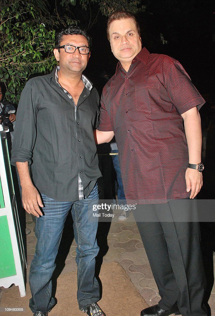 Ken Ghosh and <a gi-track='captionPersonalityLinkClicked' href=/galleries/search?phrase=Ramesh+Taurani&family=editorial&specificpeople=6136061 ng-click='$event.stopPropagation()'>Ramesh Taurani</a> at Shahid Kapoor's birthday bash at Olive in Bandra on February 25, 2011.