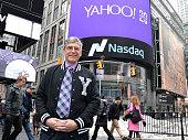 Ken Goldman Chief Financial Officer of Yahoo Inc visits the NASDAQ MarketSite on March 2 2015 in New York City