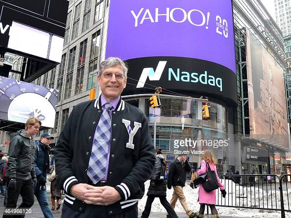 Ken Goldman Chief Financial Officer of Yahoo Inc visits the NASDAQ MarketSite on March 2 2015 in New York City