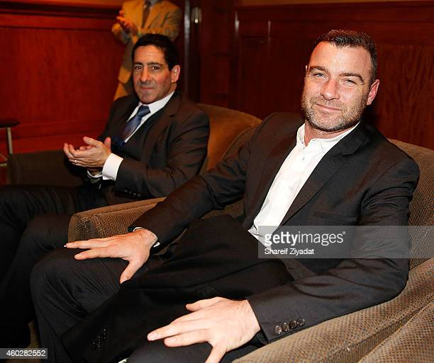 Ken Hershman and Liev Schreiber during the 'Tapia' New York premiere at HBO Theater on December 10 2014 in New York City