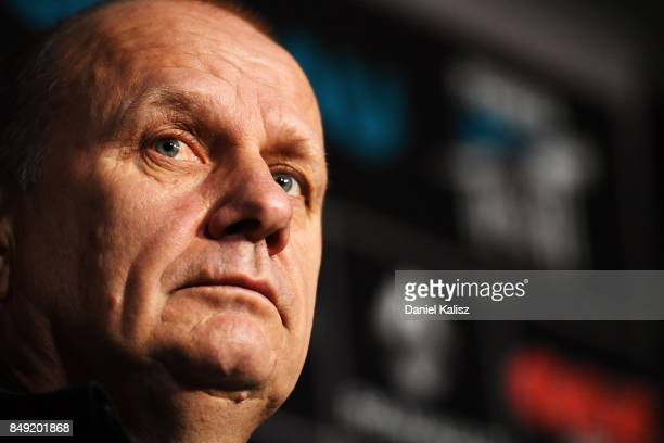 Ken Hinkley the coach of the Power looks on at Alberton Oval on September 19 2017 in Adelaide Australia
