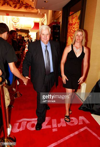 Ken Hitchock of the St Louis Blues and guest arrive before the 2012 NHL Awards at the Encore Theater at the Wynn Las Vegas on June 20 2012 in Las...