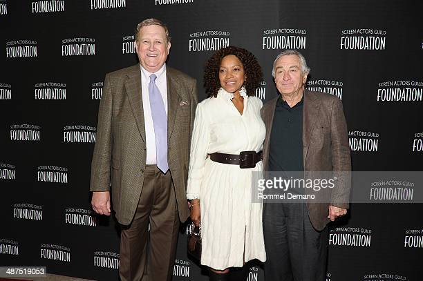 Ken Howard Grace Hightower and Robert De Niro attend the 'Stars Turn Out For The Opening Of SAG Foundation Actors Center' on April 30 2014 in New...