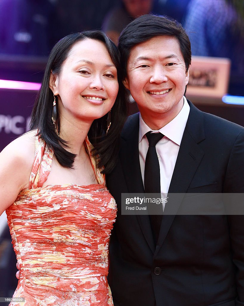 <a gi-track='captionPersonalityLinkClicked' href=/galleries/search?phrase=Ken+Jeong&family=editorial&specificpeople=4195975 ng-click='$event.stopPropagation()'>Ken Jeong</a> and Tran Jeong attend 'The Hangover III' - UK film premiere at The Empire Cinema on May 22, 2013 in London, England.