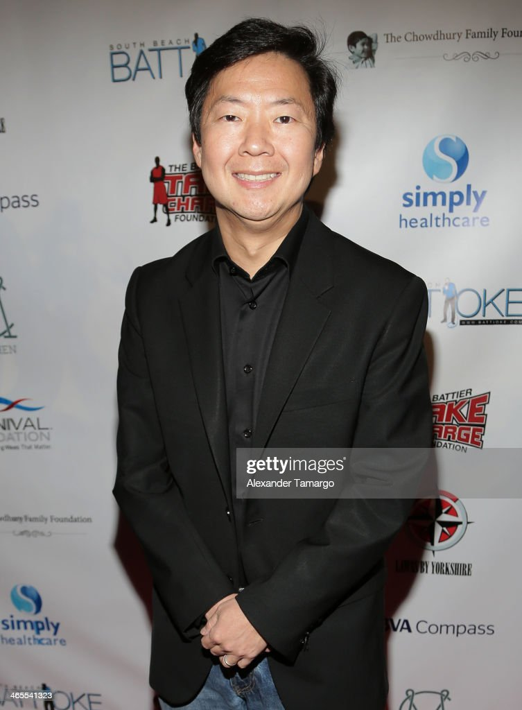 <a gi-track='captionPersonalityLinkClicked' href=/galleries/search?phrase=Ken+Jeong&family=editorial&specificpeople=4195975 ng-click='$event.stopPropagation()'>Ken Jeong</a> arrives at South Beach Battioke 2014 at Fillmore Miami Beach on January 27, 2014 in Miami Beach, Florida.