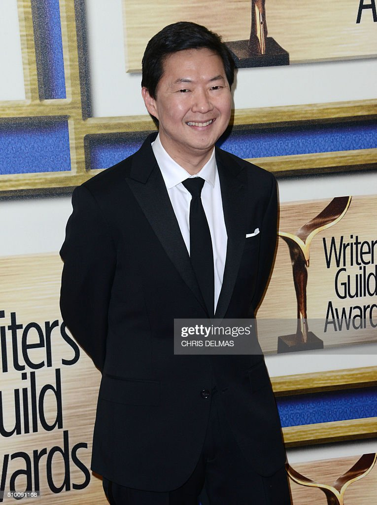 Ken Jeong arrives at the Writers Guild Awards in Century City, California, February 13, 2016 / AFP / CHRIS DELMAS