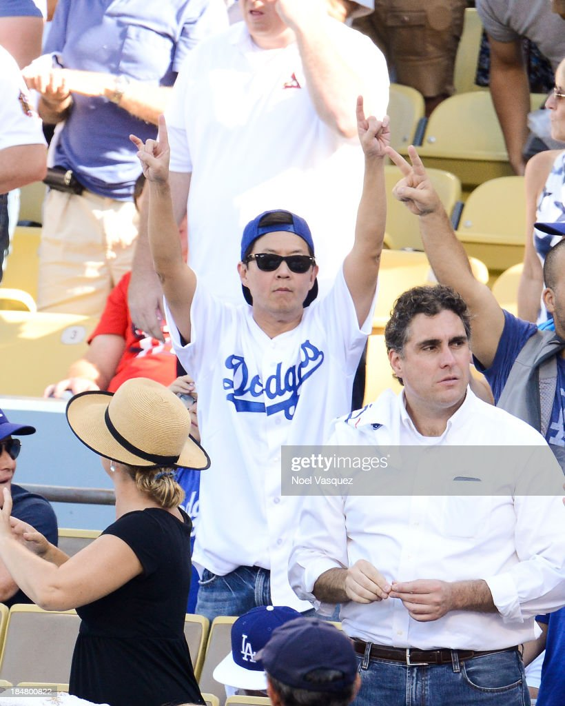 <a gi-track='captionPersonalityLinkClicked' href=/galleries/search?phrase=Ken+Jeong&family=editorial&specificpeople=4195975 ng-click='$event.stopPropagation()'>Ken Jeong</a> attends Game Five of the National League Championship Series at Dodger Stadium on October 16, 2013 in Los Angeles, California.