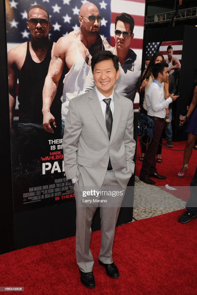 Ken Jeong attends the 'Pain & Gain' premiere on April 11, 2013 in Miami Beach, Florida.
