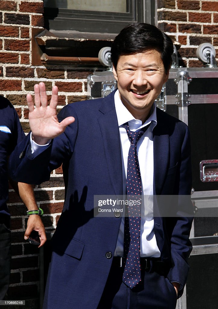 <a gi-track='captionPersonalityLinkClicked' href=/galleries/search?phrase=Ken+Jeong&family=editorial&specificpeople=4195975 ng-click='$event.stopPropagation()'>Ken Jeong</a> leaves the 'Late Show with David Letterman' at Ed Sullivan Theater on June 19, 2013 in New York City.