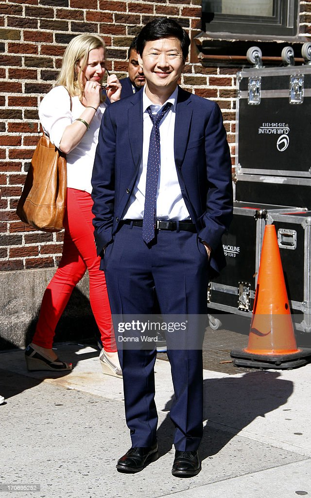 Ken Jeong leaves the 'Late Show with David Letterman' at Ed Sullivan Theater on June 19, 2013 in New York City.