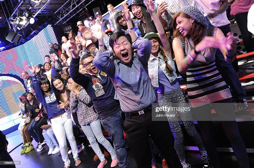 <a gi-track='captionPersonalityLinkClicked' href=/galleries/search?phrase=Ken+Jeong&family=editorial&specificpeople=4195975 ng-click='$event.stopPropagation()'>Ken Jeong</a> visits BET's '106 & Park' at BET Studios on May 13, 2013 in New York City.