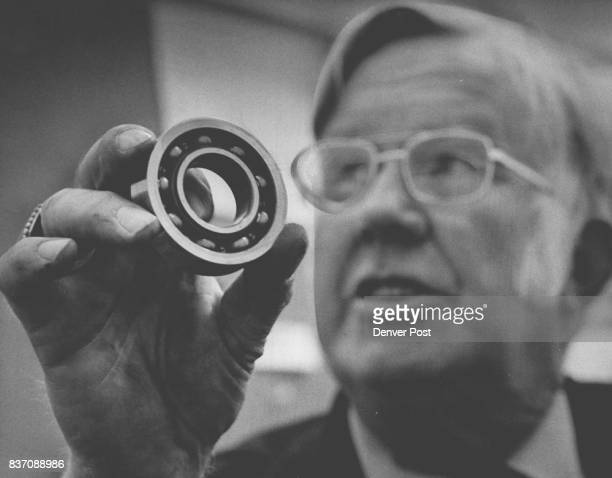 Ken Johnson shows RearAxle bearing which was replaced It is one of two such assemblies replaced despite their good condition Credit Denver Post