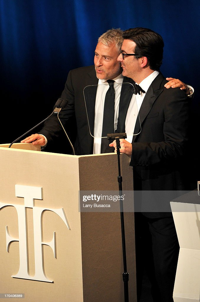 Ken Kaufman and Isaac Franco speak onstage at the 2013 Fragrance Foundation Awards at Alice Tully Hall at Lincoln Center on June 12, 2013 in New York City.