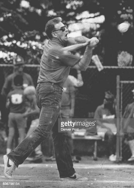 Ken Kramer at bat during a softball game at City Park between Kramer and Co and Wirth's Warriors Credit The Denver Post