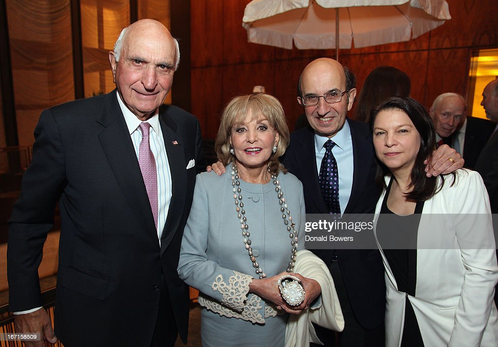 Ken Langone, <a gi-track='captionPersonalityLinkClicked' href=/galleries/search?phrase=Barbara+Walters&family=editorial&specificpeople=201871 ng-click='$event.stopPropagation()'>Barbara Walters</a>, Joel Klein and Nicole Seligman attend The Through The Kitchen Party Benefit For Cancer Research Institute on April 21, 2013 in New York City.