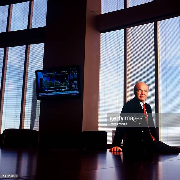 Ken Lay Former Enron CEO photographed on December 20 2000 at the Enron Building in Houston TX