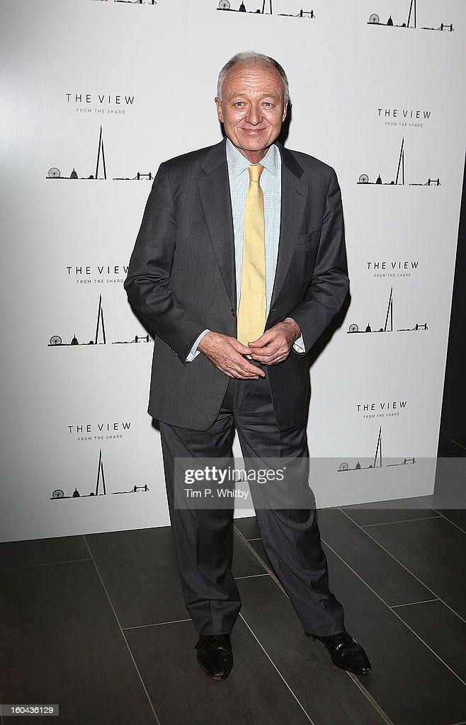 Ken Livingstone attends 'The View from The Shard' launch party at The Shard on January 31, 2013 in London, England. The Shard is Western Europes tallest building and opens to the public on 1st February.