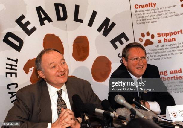 Ken Livingstone Labour MP for Brent East alongside Douglas Batchelor Chairman of the Campaign for the Protection of Hunted Animals Mr Livingstone...