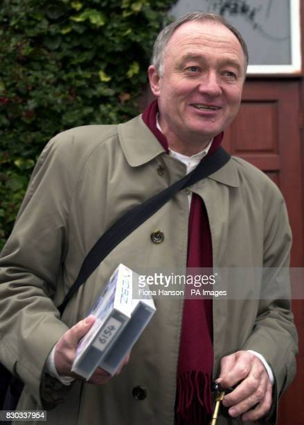 Ken Livingstone leaves his home in Willesden North London following his defeat by Frank Dobson to become the Labour Party's candidate for London...