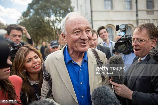 Ken Livingstone leaves Millbank Studios on April 28 2016 in London England London Mayoral candidate and Labour MP for Tooting Sadiq Khan has called...