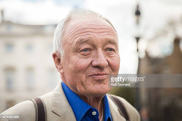 Ken Livingstone speaks leaves Milbank Studios on April 28 2016 in London England Mr Livingstone has been suspended from Labour Party for comments...