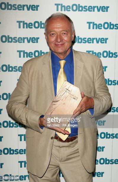 Ken Livingstone wins the Politician of the Year award at The Observer Ethical Awards 2008 at the Hempel Hotel in London