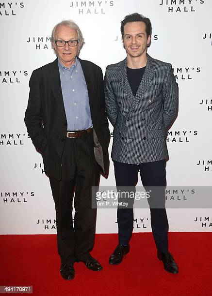Ken Loach and actor Andrew Scott attends the UK premiere of 'Jimmy's Hall' at BFI Southbank on May 28 2014 in London England