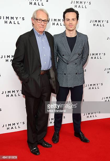 Ken Loach and Andrew Scott attend the UK Premiere of 'Jimmy's Hall' at BFI Southbank on May 28 2014 in London England